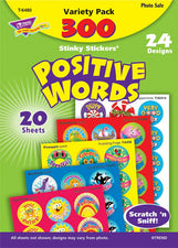 Positive Words Stinky Stickers Acid-Free Variety 300Pk