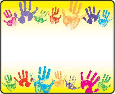 Trend Enterprises Rainbow Handprints Name Tags T 68005