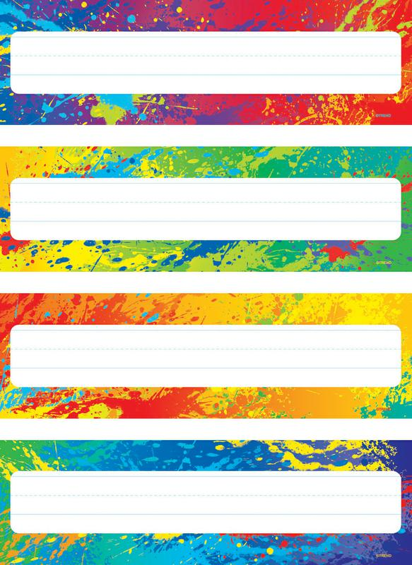 Splashy Colors Name Plates Variety Pack Of 4 Designs 32