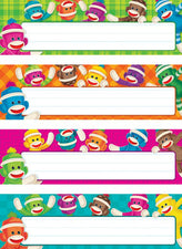 Sock Monkeys Desk Toppers® Name Plates Variety Pack