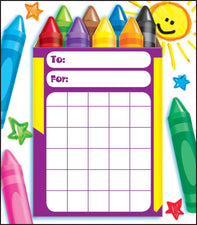 Colorful Crayons Incentive Pad