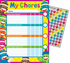 Sock Monkeys Chore Charts