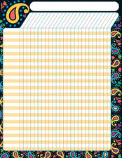 Perfectly Paisley Incentive Chart–Large