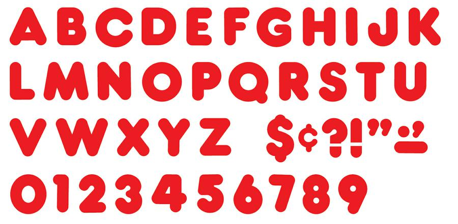 Red 3-Inch Casual Uppercase Ready Letters®