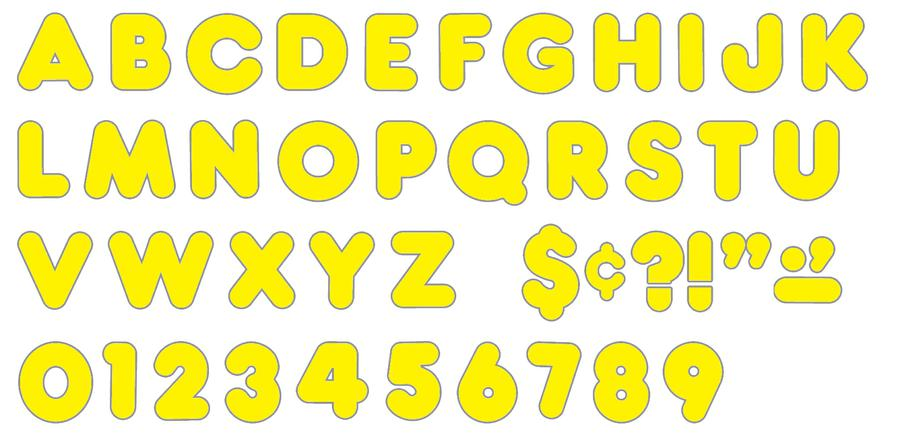 Yellow 3-Inch Casual Uppercase Ready Letters®
