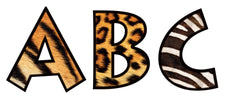 Animal Prints 4-Inch Venture Uppercase Ready Letters®