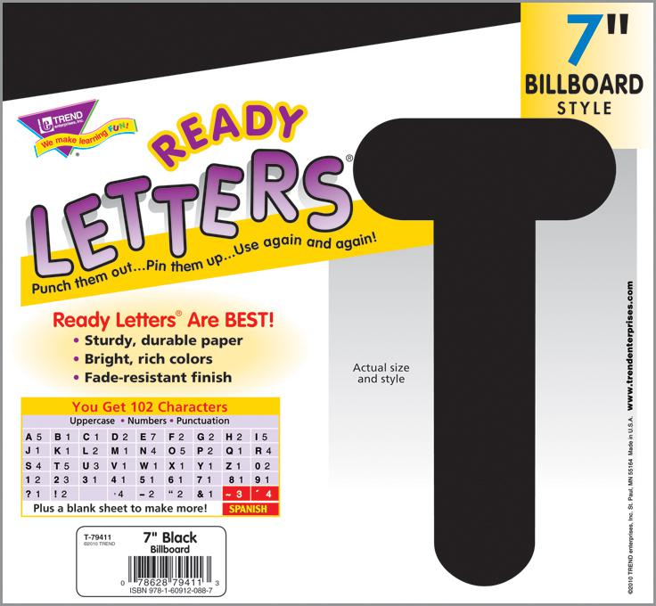 Black 7-Inch Billboard Uppercase Ready Letters®