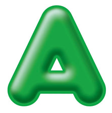 Green 4-Inch 3-D Uppercase Ready Letters®