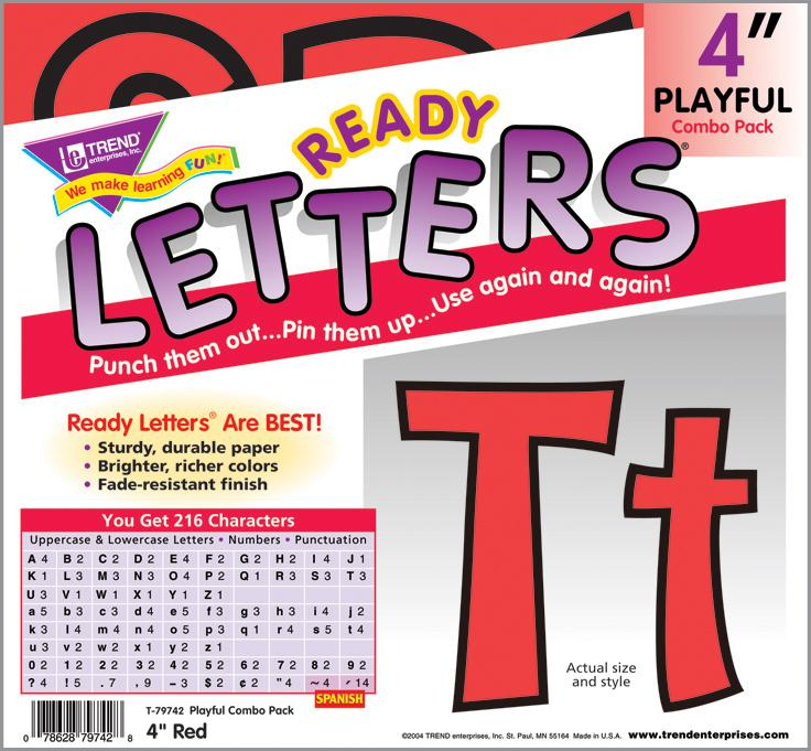 Red 4-Inch Playful Combo Ready Letters®