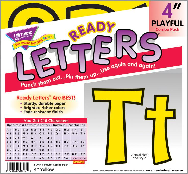 Yellow 4-Inch Playful Combo Ready Letters®