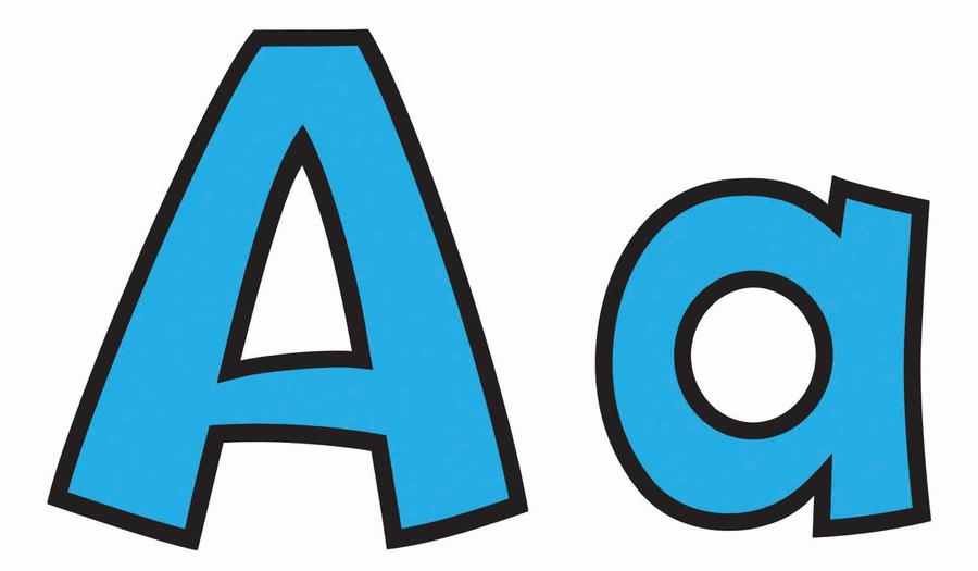 Blue 4-Inch Playful Combo Ready Letters®