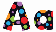 Neon Dots 4-Inch Playful Combo Ready Letters®