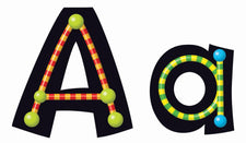 Alpha-Beads 4-Inch Playful Uppercase/Lowercase Ready Letters® Combo Pack (English/Spanish)