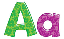 Uppercase & Lowercase Colorful Playful Patterns Ready Letters, 4 Inch