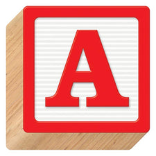 Wooden Blocks 4-Inch 3-D Blocks Uppercase Ready Letters®