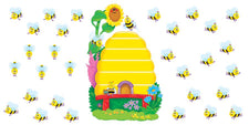 Busy Bees Job Chart Plus Bulletin Board Set