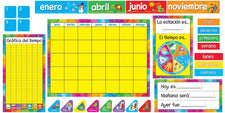 Calendario Anual Spanish Classroom Calendar Bulletin Board Set