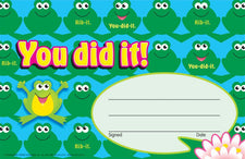 You did it! (Frogs) Recognition Awards