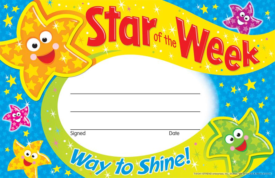 Star of the Week—Way to Shine Recognition Awards