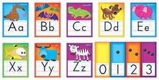 Awesome Animals Alphabet Cards (Standard Manuscript) Bulletin Board Set