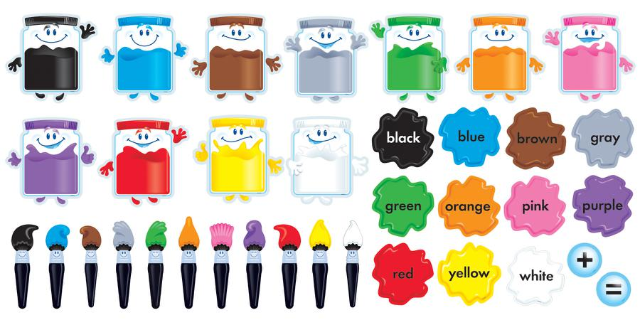 Colortime Paints Bulletin Board Set