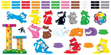Curious Color Cats Bulletin Board Set