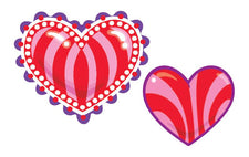 Kaleidoscope Hearts/Cherry Stinky Stickers®–Mixed Shapes