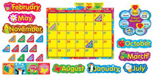 Wipe-Off® Stars 'n Swirls Calendar (Cling) Bulletin Board Set