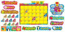 Calendario Wipe-Off® con Estrellas y Remolinos (Cling) (SP) Bulletin Board Set