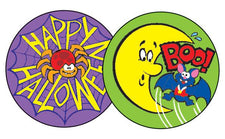 Happy Halloween/Rootbeer Stinky Stickers®–Large Round