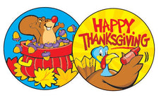 Thanksgiving Time/Pumpkin Stinky Stickers®–Large Round