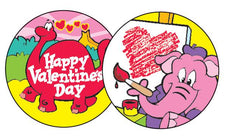 Valentine's Day/Chocolate-Cherry Stinky Stickers®–Large Round