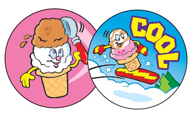 Cool Cones/Chocolate Stinky Stickers®–Large Round