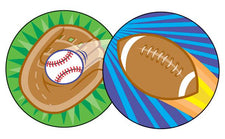 Spectacular Sports/Leather Stinky Stickers®–Large Round