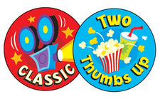 At the Movies/Popcorn Stinky Stickers®–Large Round