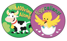 Fabulous Farm/Honey Stinky Stickers®–Large Round