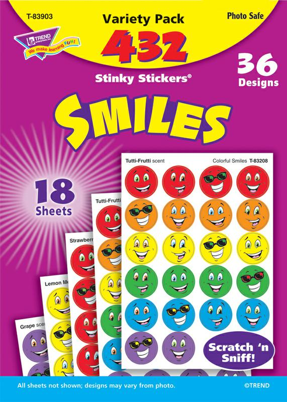 Smiles Stinky Stickers® Variety Pack