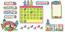 Sock Monkeys Calendar Bulletin Board Set