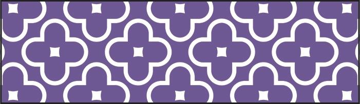 Floral Purple Bolder Borders®