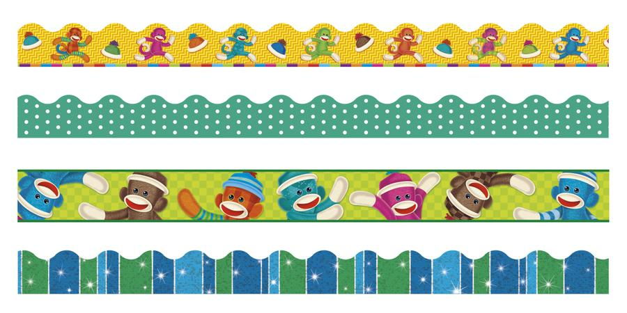Sock Monkeys Terrific Trimmers® & Bolder Borders® Variety Pack