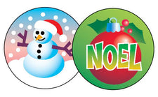Christmas/Peppermint Stinky Stickers®–Large Round
