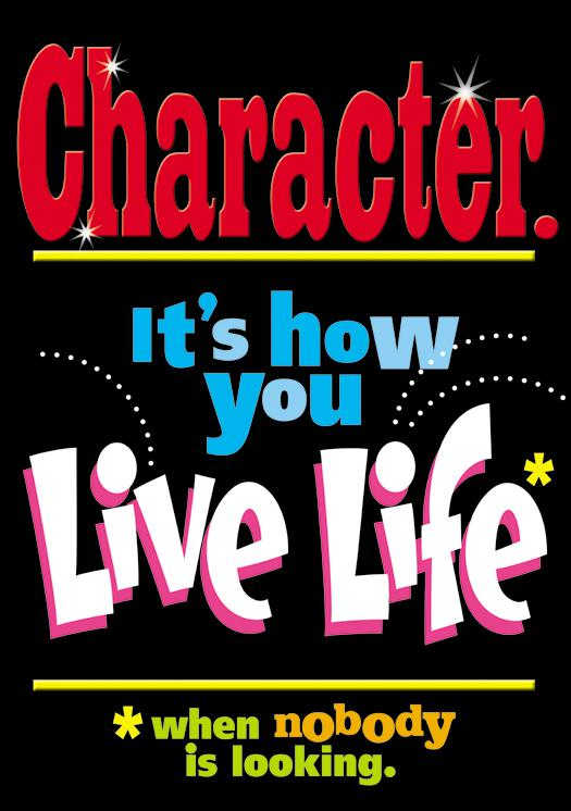 Character–it's how you… ARGUS® Poster