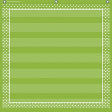 Teacher Created Resources Lime Polka Dots 7 Pocket Chart