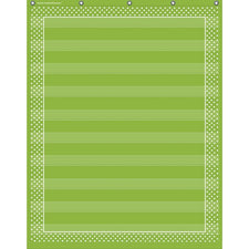 Teacher Created Resources Lime Polka Dots 10 Pocket Chart