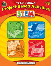 Year Round Project-Based Activities Book for STEM Grade 1-2