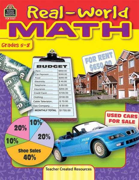 Real-World Math Activity Book, Grades 5-8
