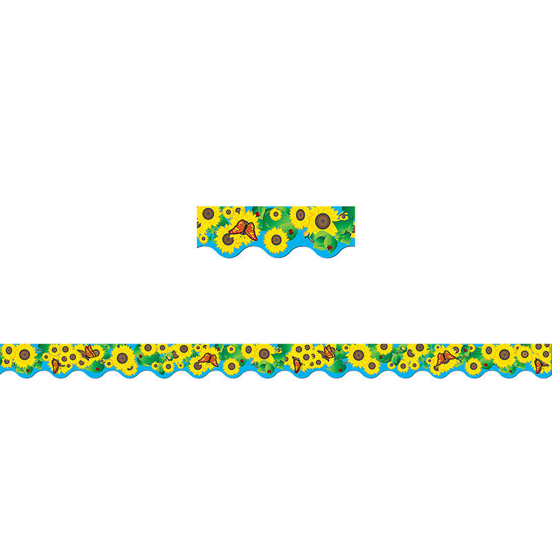 Sunflowers Bulletin Board Border Scalloped Tcr4133
