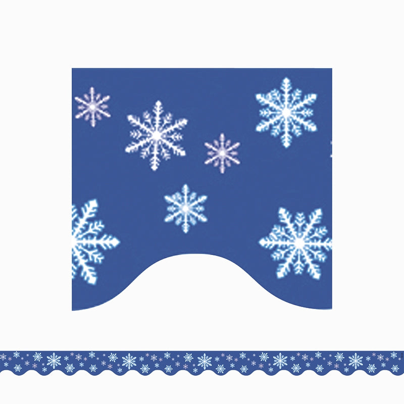 Teacher Created Resources Snowflakes Scalloped Border Trim