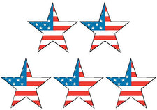Large Flag Stars Stickers (Foil)