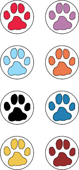 Puppy Paw Prints Mini Stickers from Mary Engelbreit